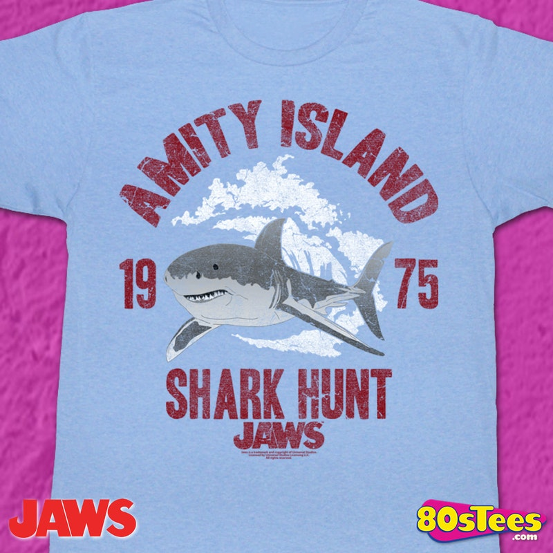 41a30bf38a3 Shark Hunt Jaws T-Shirt Men s Licensed