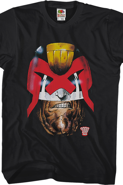 Old Stony Face Judge Dredd T-Shirt