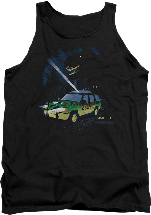 Flashlight Jurassic Park Tank Top