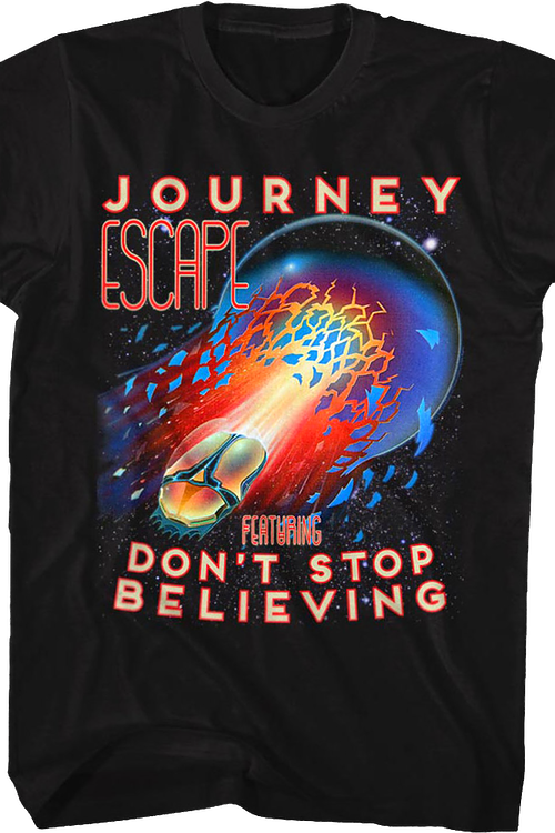 Black Don't Stop Believing Journey T-Shirt