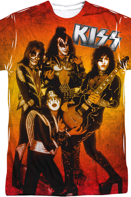 Fire Pose KISS T-Shirt