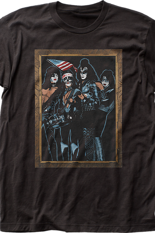 Framed 76 Tour Picture KISS T-Shirt