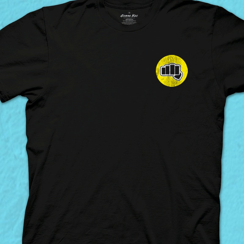 Fist Cobra Kai T Shirt 80s Movies Karate Kid T Shirt