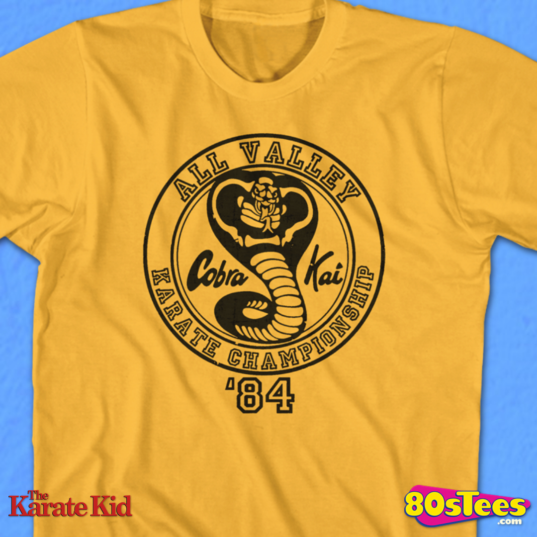 80/'s Tee Cool All Valley Karate Competition 1984 Funny Mens Cotton T-Shirt