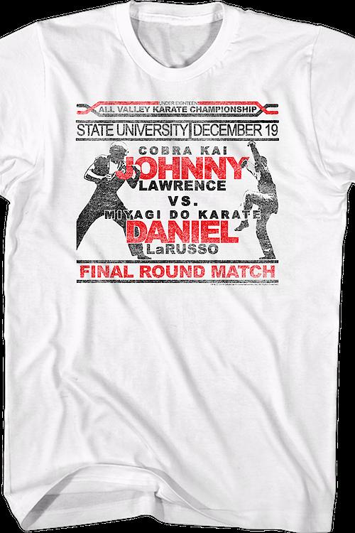 8e25bdc7 Johnny Vs Daniel Karate Kid T-Shirt: Karate Kid Mens T-shirt