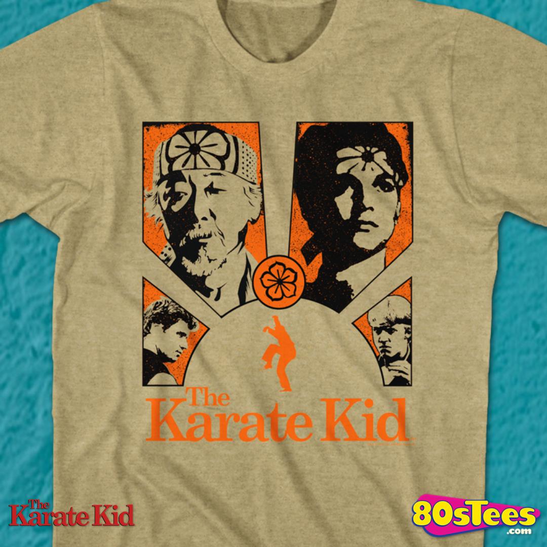 The Karate Kid T-Shirt Orange Black Burst Khaki Heather Tee