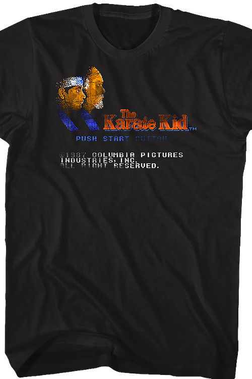 Start Screen Karate Kid Video Game T-Shirt