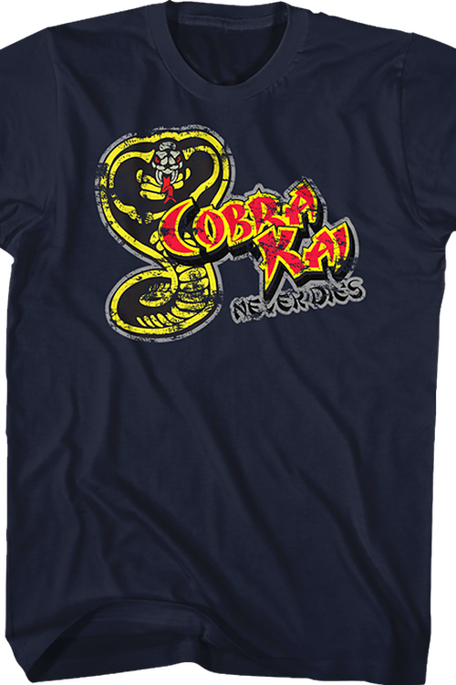 4fcb754b Cobra Kai Never Dies Karate Kid T-Shirt. Men's T-Shirt.