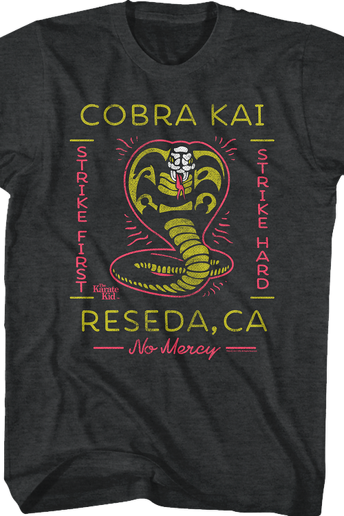 Neon Cobra Kai Karate Kid T-Shirt