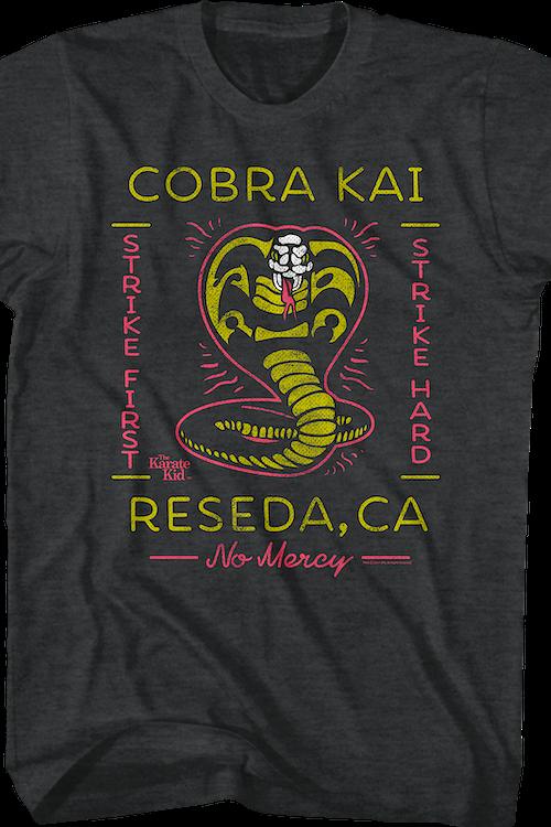 40f6c50a Neon Cobra Kai Karate Kid T-Shirt: Karate Kid Mens T-Shirt