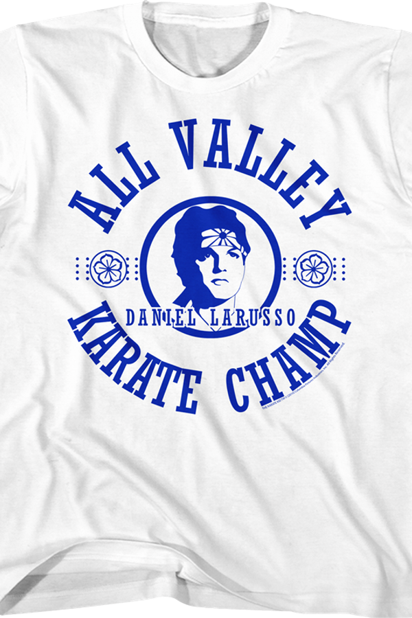 Youth All Valley Champ Karate Kid Shirt