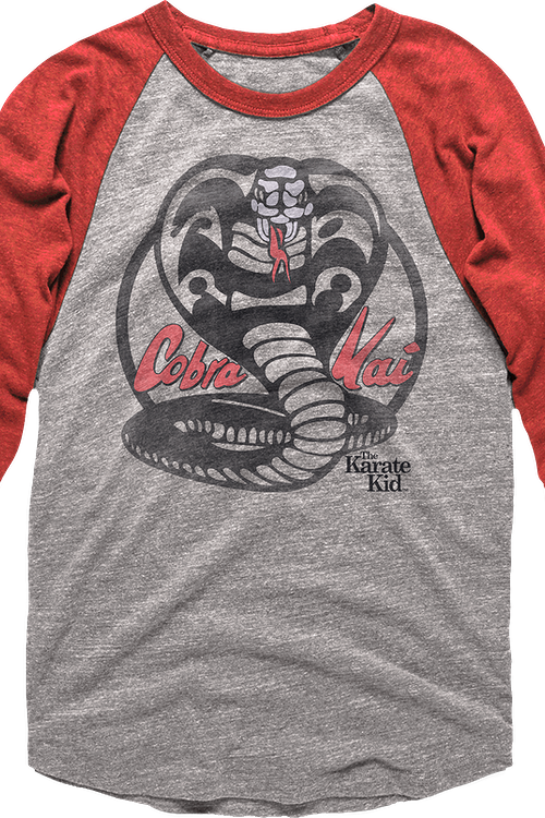 Cobra Kai Raglan Karate Kid Baseball Shirt