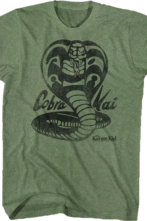 Distressed Cobra Kai Logo Karate Kid T-Shirt