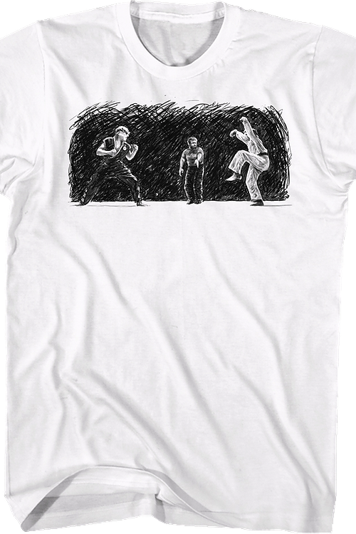 Daniel vs Johnny Sketch Karate Kid T-Shirt