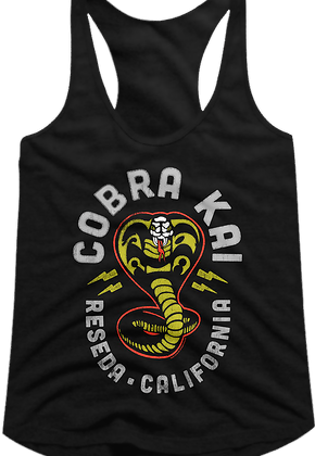 Cobra Kai Lightning Logo Racerback Karate Kid Tank Top