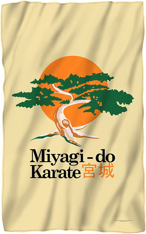 Karate Kid Miyagi-Do 36 x 58 Thin Fleece Throw