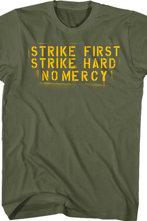Strike First Strike Hard No Mercy Karate Kid Shirt