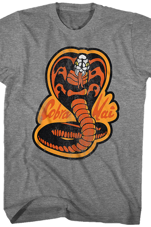 Karate Kid Distressed Cobra Kai Logo T-Shirt