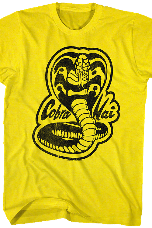 Karate Kid Yellow Cobra Kai Logo T-Shirt