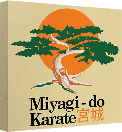 Karate Kid Miyagi Do Canvas Wall Art