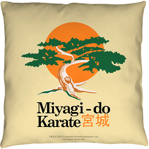 Karate Kid Miyagi-Do Throw Pillow