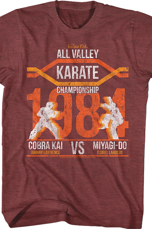 All Valley Championship Silhouettes Karate Kid T-Shirt