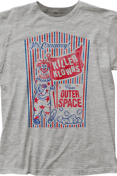 Popcorn Box Killer Klowns From Outer Space T-Shirt