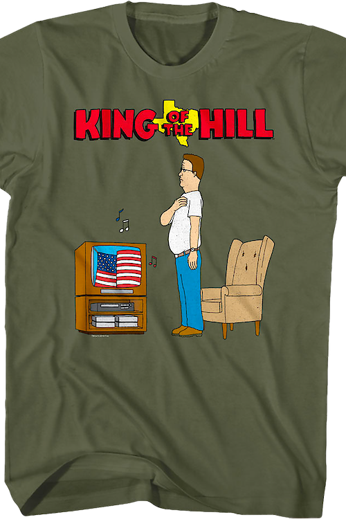 Star Spangled Banner King of the Hill T-Shirt