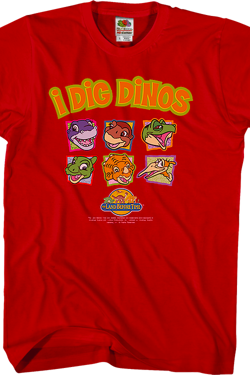I Dig Dinos Land Before Time T-Shirt