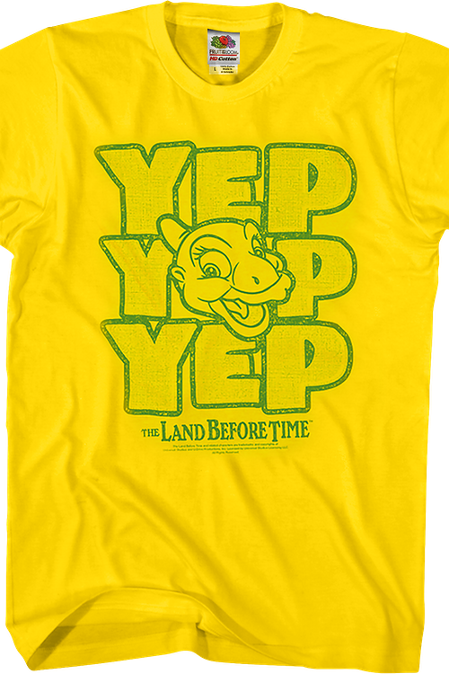 Ducky Yep Yep Yep Land Before Time T-Shirt