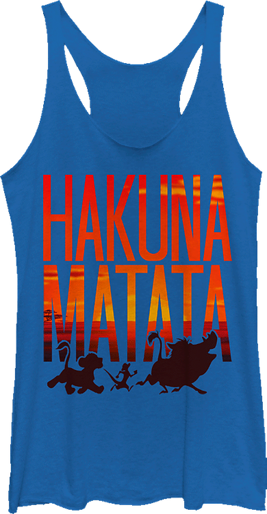Ladies Hakuna Matata Sunset Tank Top