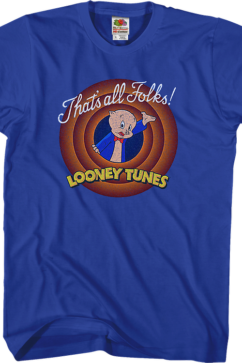 That's All Folks Porky Pig Looney Tunes T-Shirt