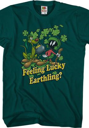 Feeling Lucky Earthling Looney Tunes T-Shirt