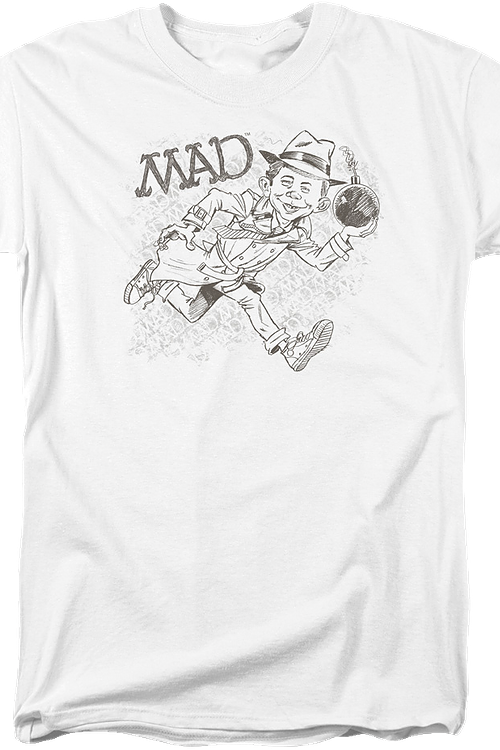 Alfred E. Neuman Sketch Mad Magazine T-Shirt