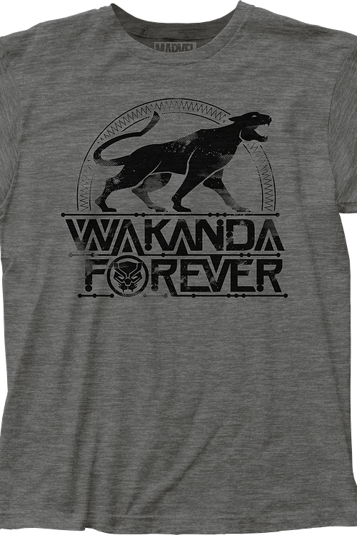 23dc0ed6 Wakanda Forever Black Panther T-Shirt: Black Panther Mens T-Shirt