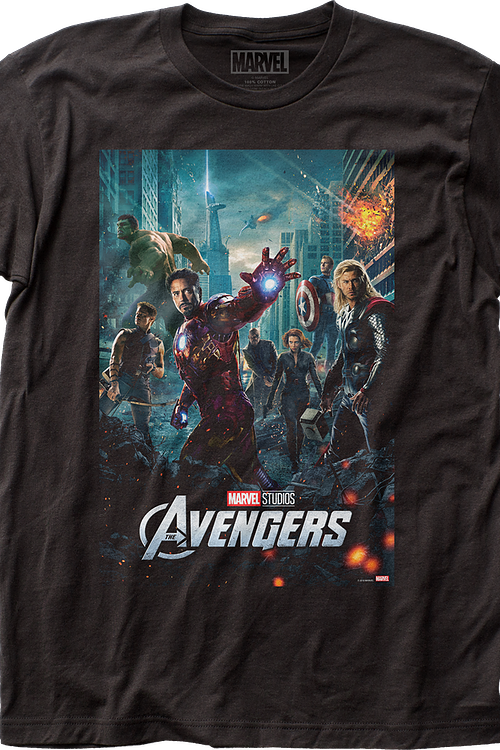 Movie Poster Avengers Marvel Comics T-Shirt