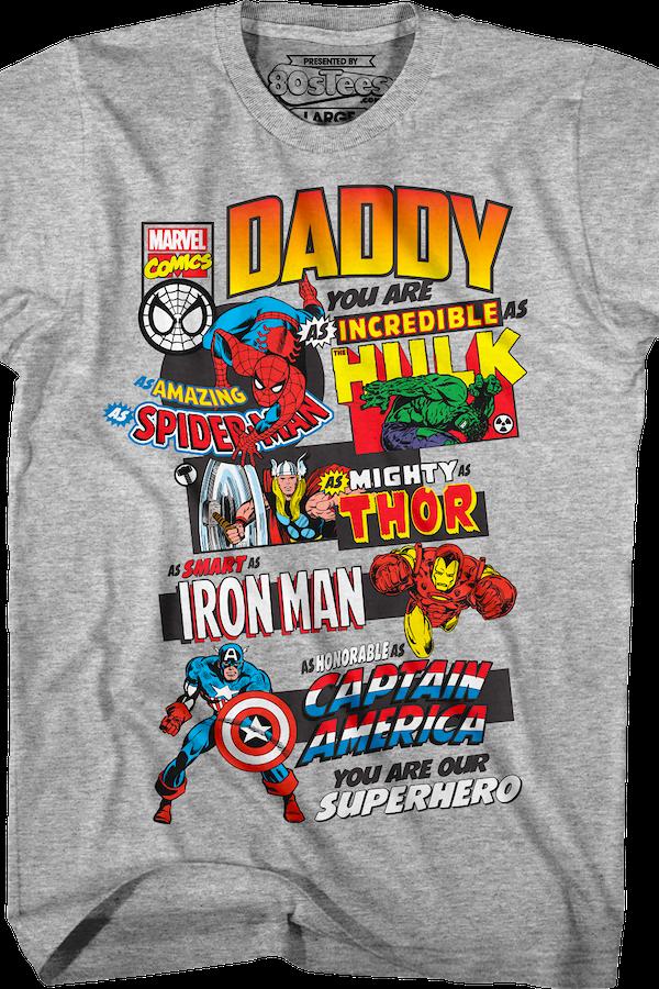 marvel comics father 39 s day t shirt marvel comics mens t shirt. Black Bedroom Furniture Sets. Home Design Ideas