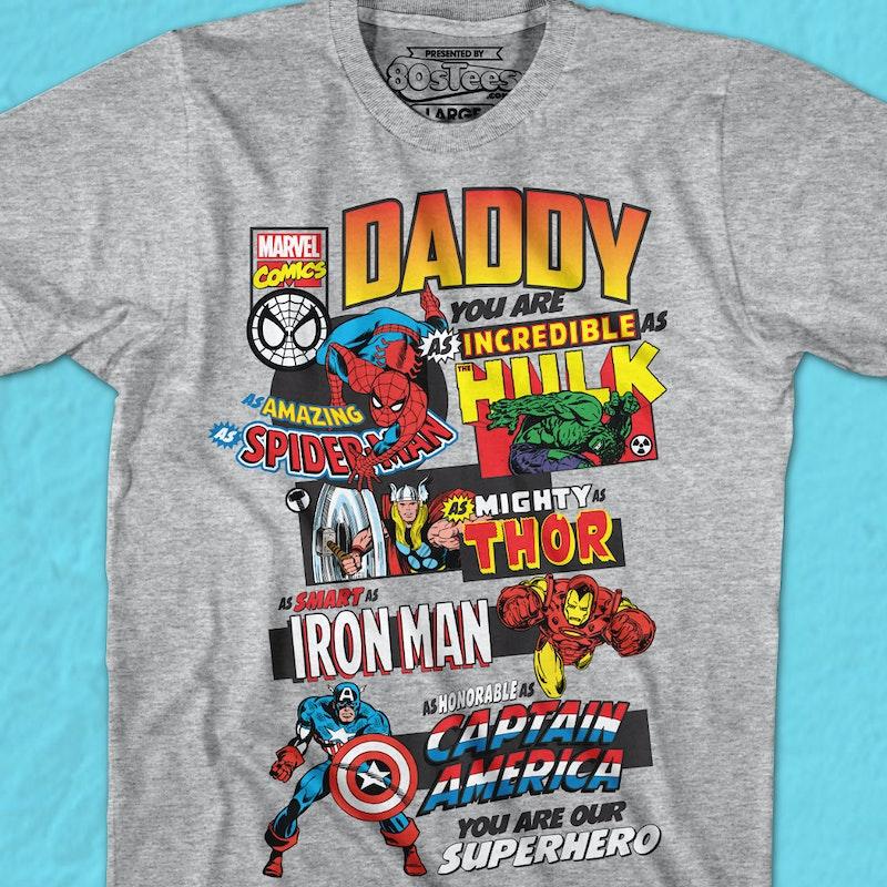 944ee8961a70 Marvel Comics Father's Day T-Shirt: Marvel Comics Mens T-Shirt
