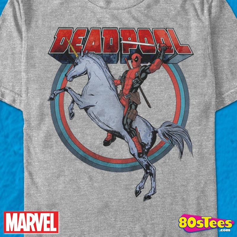 c9f040d18 Deadpool Unicorn T-Shirt: Marvel Comics Deadpool Mens T-Shirt
