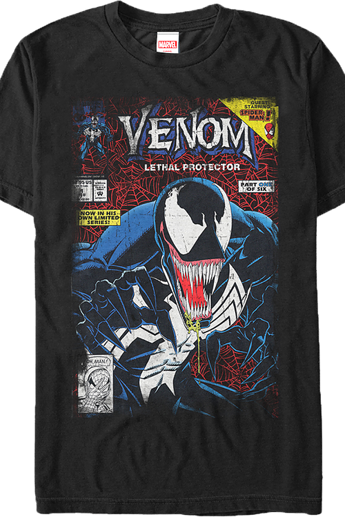 dbbcdfa8 Venom Lethal Protector Part One T-Shirt: Marvel Mens T-Shirt