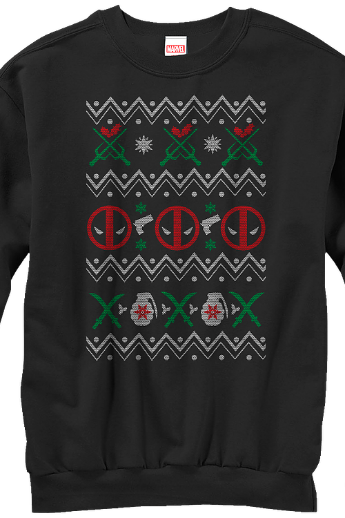 Deadpool Faux Ugly Christmas Sweater