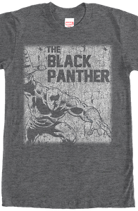 Distressed Black Panther T-Shirt
