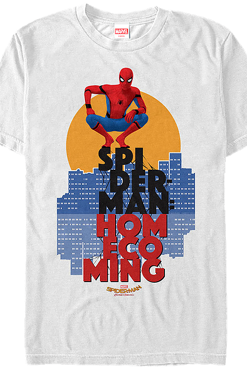 417ec7ea Spider-Man Homecoming T-Shirt: Marvel Comics Mens T-Shirt