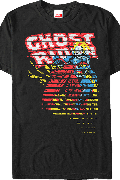 bceb61499b3c Hell Cycle Ghost Rider T-Shirt  Marvel Mens T-Shirt