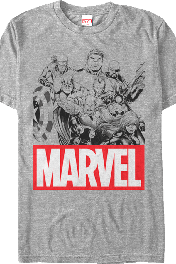 Marvel Avengers Group Sketch T-Shirt