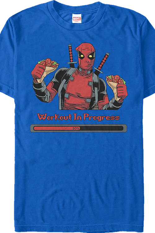 Workout in Progress Deadpool T-Shirt