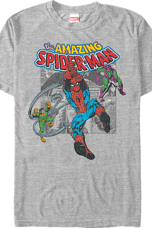 Villain Collage Spider-Man T-Shirt