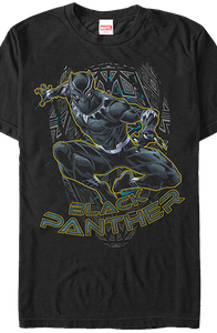 Action Pose Black Panther T-Shirt