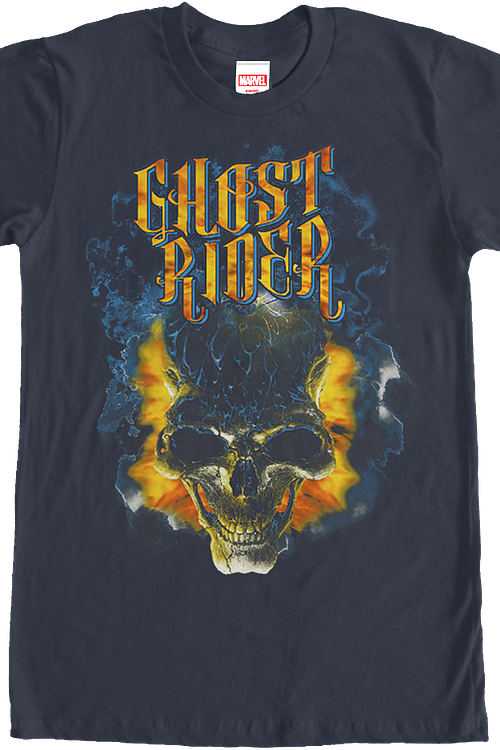 Flaming Skull Ghost Rider T-Shirt
