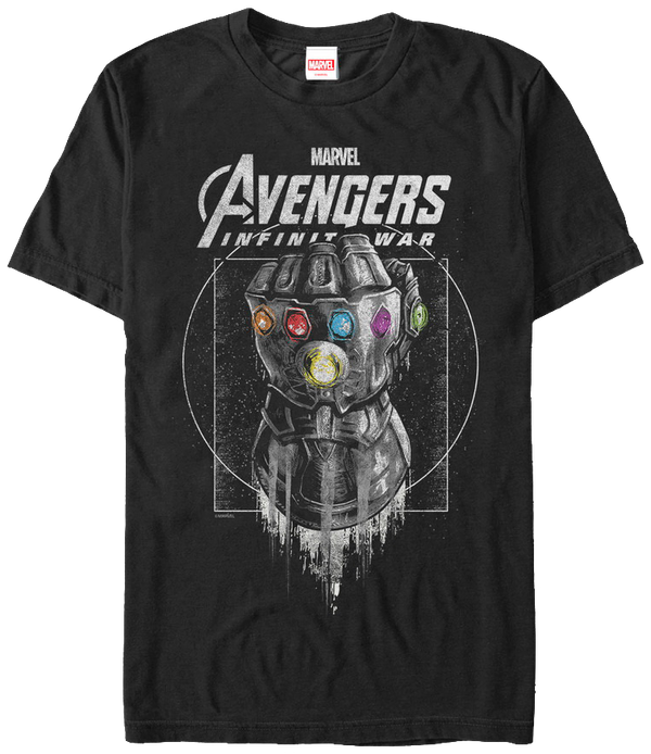 Avengers: Infinity War -Part 1 T-Shirt Thano's Gauntlet Men'S T-Shirt Black